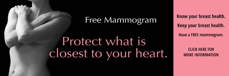 Ask about a Free Mammogram Screening